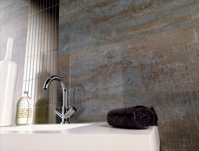 Porcelanosa shine aluminio large format wall tile tiles for Carrelage 45x45