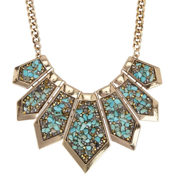 Necklace ($25) ❤ liked on Polyvore featuring jewelry, necklaces, turquoise, green turquoise necklace, aldo, aldo jewelry, aldo necklace and green turquoise jewelry