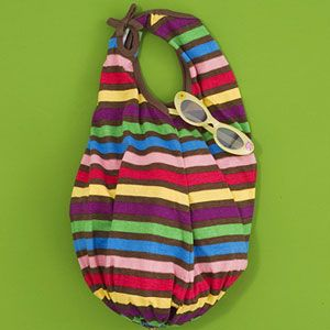 Repurpose an old tank top into a stylish hand bag. Ok, so