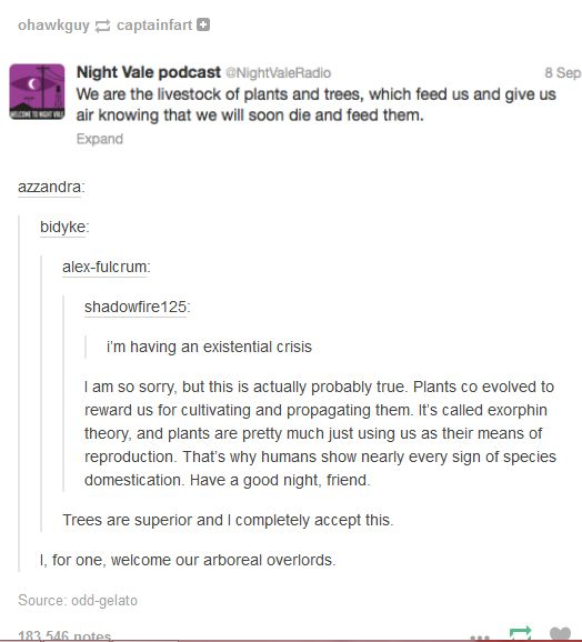 welcome to night vale twitter - Google Search>> where do you think the whispering forest comes from?