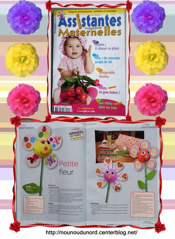 fleurs que j'ai réalisées pour le magazine assistantes maternellesN°101 du mois Mai 2013