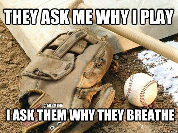 I love to play Baseball in my spear time, i was always the best thrower on all my teams so i was always put in the right out fields. I can't hit the baseball when it's my turn to bat, but other than that im great, i don't play on any teams, but will play for fun
