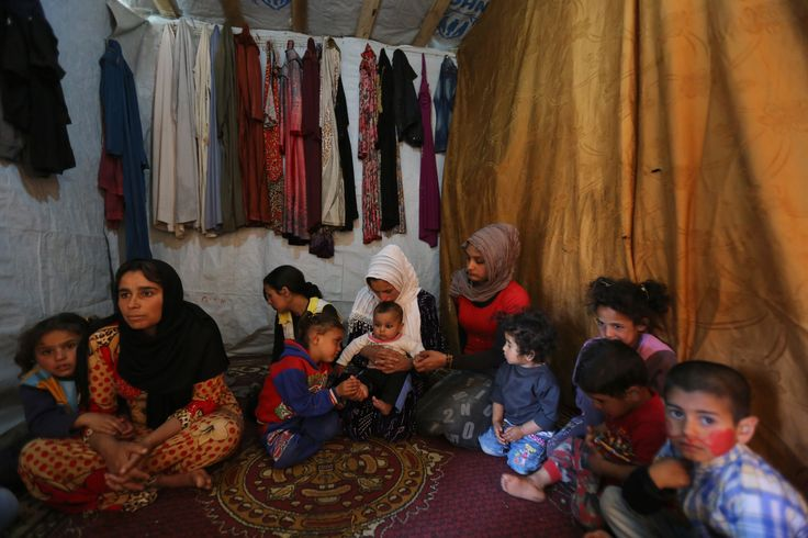 Inside this tiny makeshift tent in Lebanon's Bekaa Valley, Souad, the single mother of nine, can hardly believe that this will mark their third year away from home.