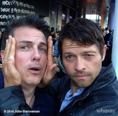 Misha Collins and John Barrowman at Comic Con. I'm laughing so much, I can't stop