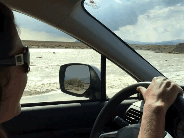 Flash flooding in Death Valley