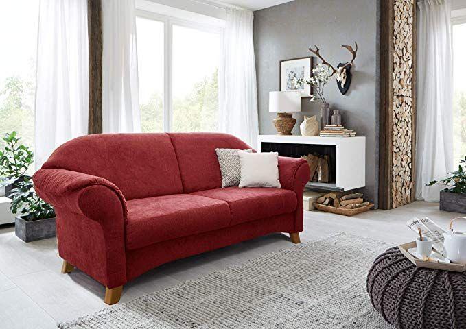 Cavadore 2 Sitzer Maifayr Wunderschones Landhaus Sofa Im Landhausstil Mit Holzfussen Landhaus Couch Masse 164 X 90 X 90 Cm Bxhxt In 2020 Furniture Home Decor