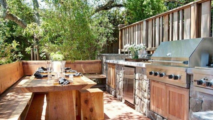 gartenküche außenküche selber bauen