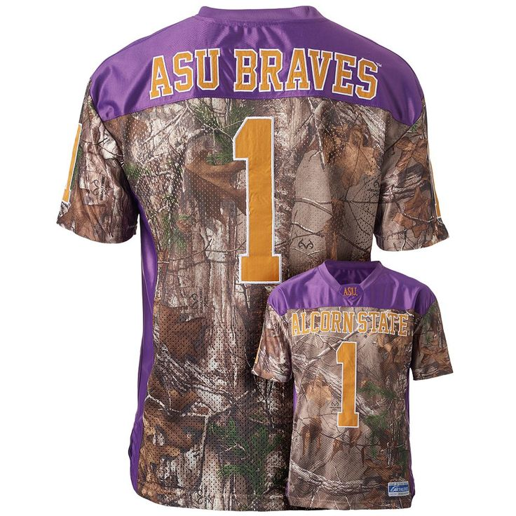 Men's Alcorn State Braves Game Day Realtree Camo Jersey, Size: Large, Brown