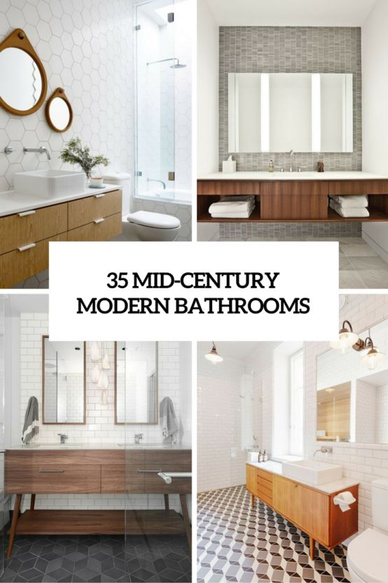 35 trendy midcentury modern bathrooms to get inspired