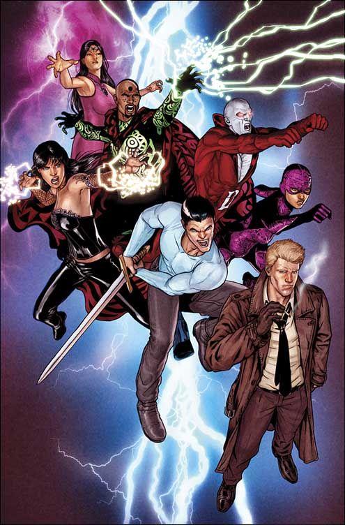 Justice League Dark (Madam Xanadu, Dr. Mist, Zatanna, Deadman, Black Orchid, Andrew Bennett, Constantine)