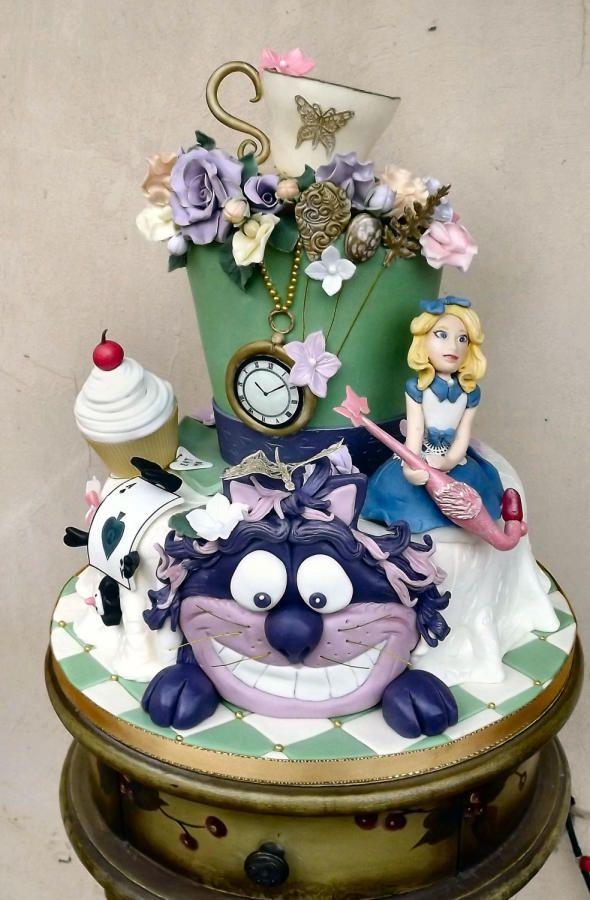 Alice in wonderland cake :) - Cake by Storyteller Cakes