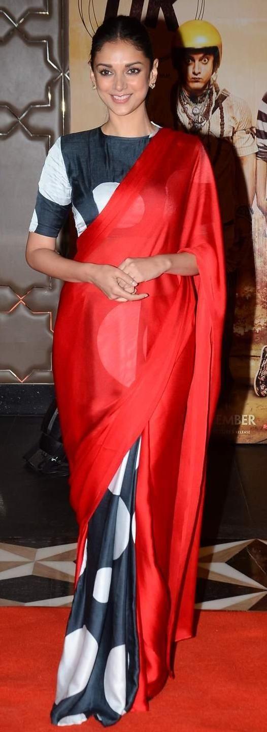Pinterest @Littlehub  || Six yard- The Saree ❤•。*゚||  Aditi rao in a saree