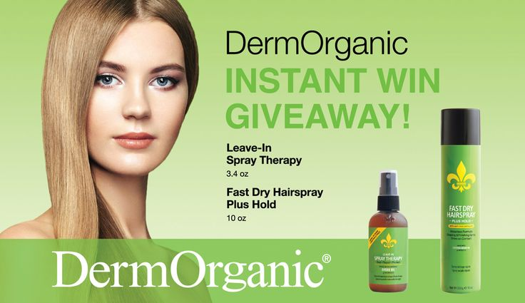 Win a FREE Full Sized DermOrganic Leave In Spray Therapy and Fast Dry Hairspray ($38 value)! DermOrganic is sulfate-free, cruelty-free and vegan! Find us at your local ULTA Beauty store and ULTA.com. Instant win game ends 11/26/16 or when supplies run out. Try your luck each day! Click here to enter - http://woobox.com/ouz5zt