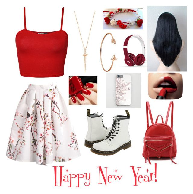 """""""Happy New Year! Hope it's a great one :)"""" by twinfreak101 on Polyvore featuring L'Oréal Paris, Beats by Dr. Dre, WearAll, Dr. Martens, Bling Jewelry, Bee Goddess and Botkier"""