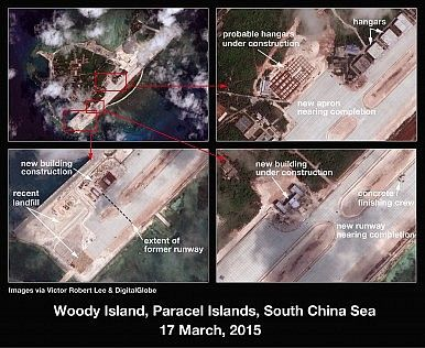 Woody Island  http://thediplomat.com/2015/04/south-china-sea-china-is-building-on-the-paracels-as-well/