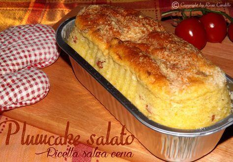 Il Plumcake salato 250 gr. di farina 00-3 uova-100 ml. di olio d'oliva-120 ml. di latte-100 gr. di formaggio grattugiato-100 gr. di prosciutto cotto-1 bustina di lievito istantaneo-sale Mescolare uova con latte, olio e sale, aggiungere un pò alla volta farina, formaggio grattugiato, i pezzi di prosciutto cotto ed lievito istantaneo. Versare il tutto in uno stampo per plumcake precedentemente unto ed infarinato ed infornare in forno caldo a 175° per 35 minuti circa.