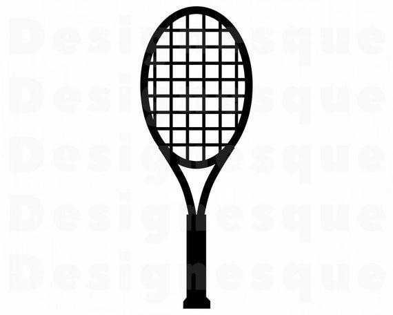 Tennis Racket Svg Tennis Racquet Svg Tennis Racket Clipart Etsy Tennis Racket Svg Rackets