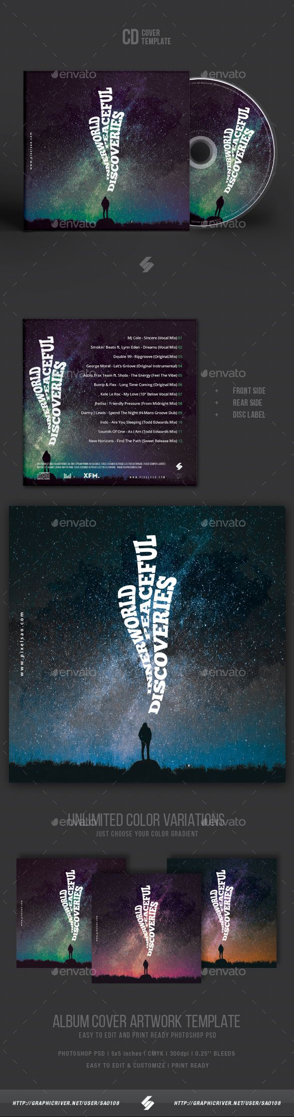 Inner World Discoveries - Creative CD Cover Artwork Template PSD