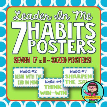 Primary Leader In Me - 7 Habits Poster Set (Ledger Paper Size)