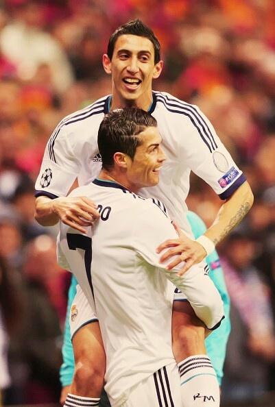 Di Maria and Ronaldo Que lastima que te sacaron Dei REAL MADRID.  Buena Suerte DI MARIA.