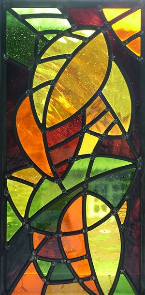 stained glass leaves panel - Google Search