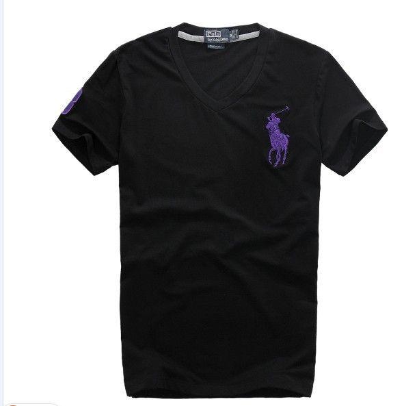 cheap ralph lauren polo shirts Ralph Lauren Men's Big Pony V-Neck Short Sleeve T-Shirt Black / Purple http://www.poloshirtoutlet.us/