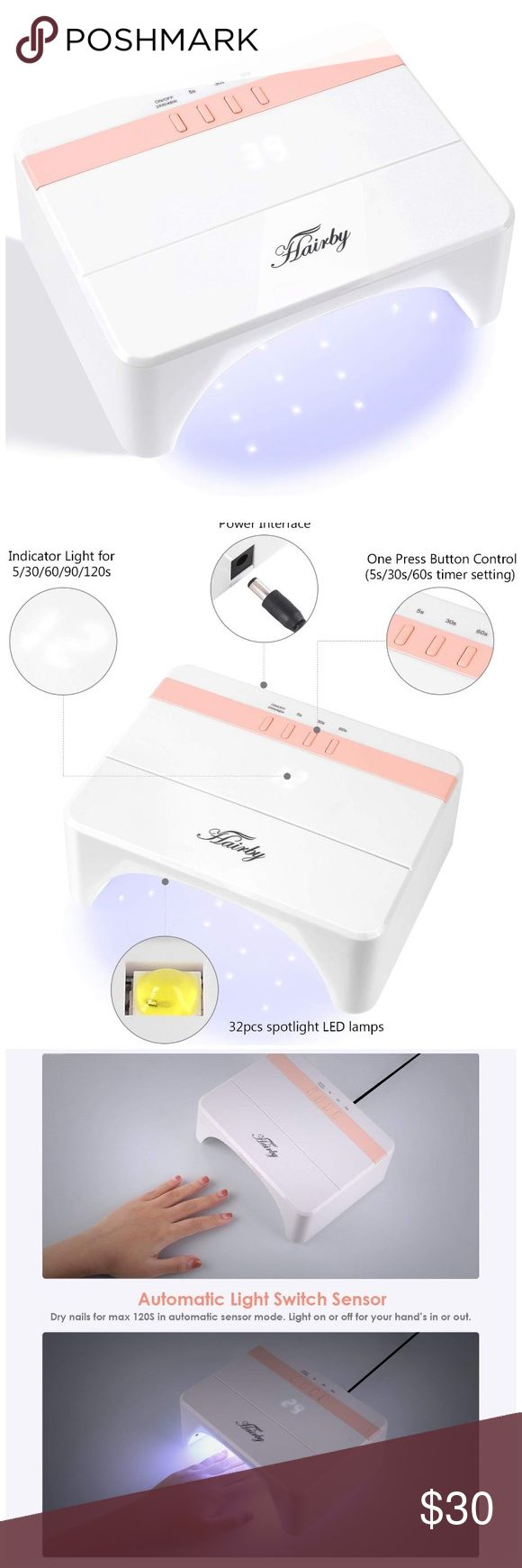 Nail Dryer 48W UV Light LED, 5-120s 5 Timers ❤ DELICATE AND FASHION FOR NAIL S… Nail Dryer 48W UV Light LED, 5-120s 5 Timers ❤ DELICATE AND FASHION FOR NAIL SALON – Rectangular nail gel dryer, with smooth and durable polyster material, protect the nail dryer from deformation and damage. Portable size makes it easier to beautify your nails when go working, gathering or shopping. ❤ FAST CRUEING NIAL WITH 48W POWER – 30 pcs LED lamps fixed in the inner wall of dryer, provides high efficient curing and polishing. Save you time to dress up manicure, to enjoy different nails types in different moods anytime anywhere. Nail Makeup
