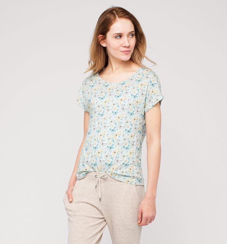CLOCKHOUSE Print-T-Shirt in hellblau - Mode günstig online kaufen - C&A