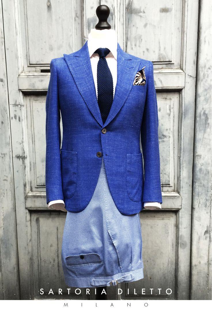 Bespoke: blazer, trousers, shirt, tie, pocket square