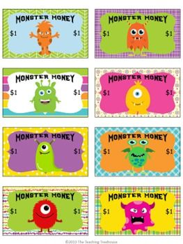 Freebie! Reward your students with Monster Money! Kids love the cute and colorful crazy monsters.
