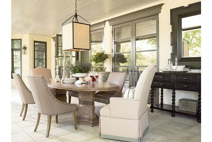 Celladora Dining Room Featuring Remi Oval Double Pedestal