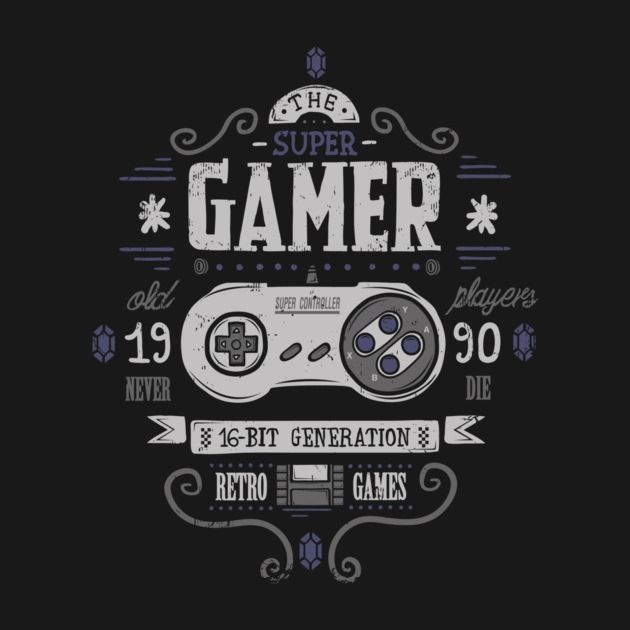 SUPER GAMER T-Shirt - Gamer T-Shirt is $12 today at Once Upon a Tee!
