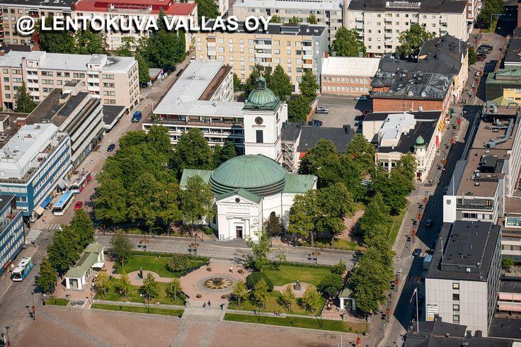 Hämeenlinnan kirkko Ilmakuva: Lentokuva Vallas Oy