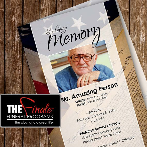 36 best Funeral Program Templates images on Pinterest Microsoft - free obituary template