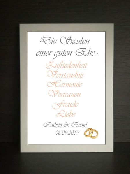 Weiteres – Bilderrahmen A4 Geschenk Hochzeit Valentinstag  – ein Designerstück …