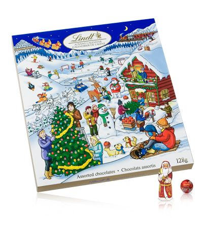 If I was going with  the traditional chocolate calendar it would have to be this one -  Lindt Holiday Magic > Lindt Advent Calender