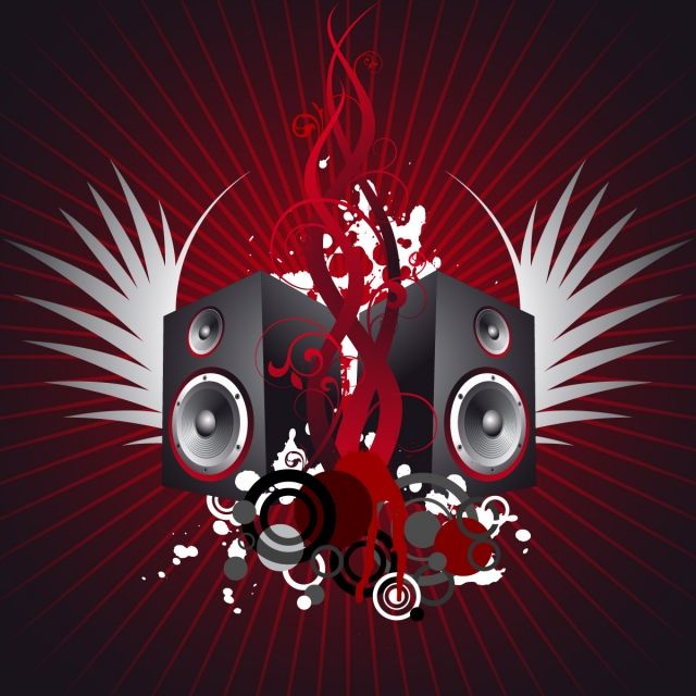 Music Illustration With Wing And Speakers Vector Music Illustration Png And Vector With Transparent Background For Free Download Music Illustration Illustration Music Festival Poster