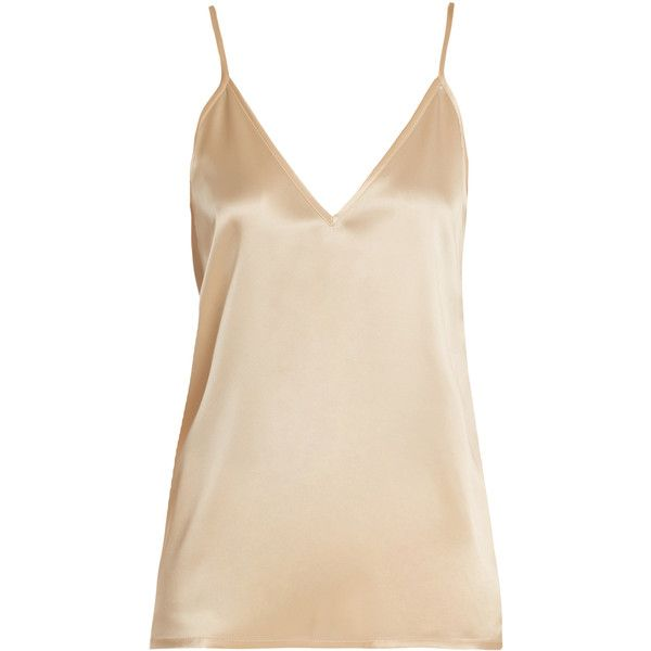 b43c08acf16 Raey V-neck silk-satin cami top ($128) ❤ liked on Polyvore ...
