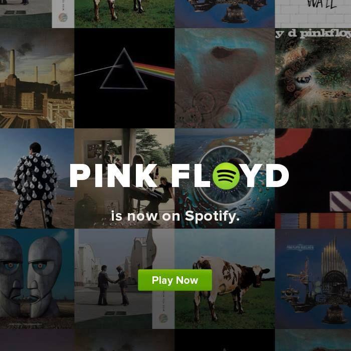 I Pink Floyd sbarcano su spotify