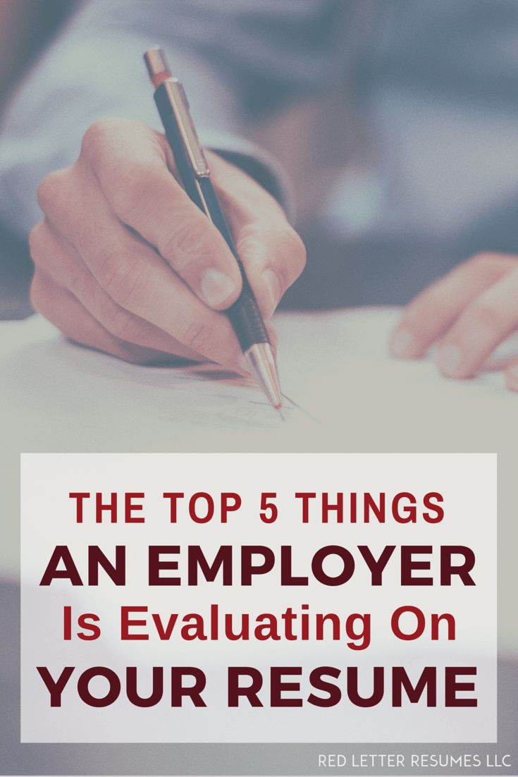 The top 5 things an employer looks