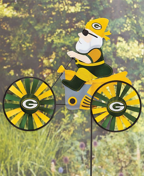 Green Bay Packers Motorcycle Wind Spinners Green Bay