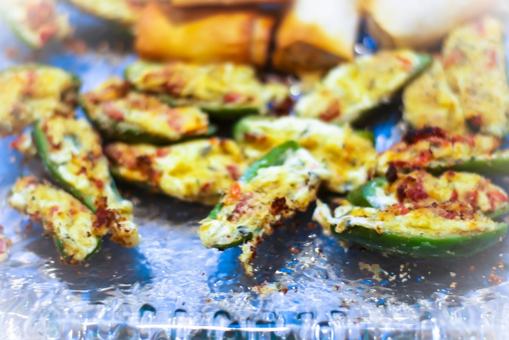 Carrie's Experimental Kitchen: Sun Dried Tomato & Asiago Cheese Jalepeno Poppers