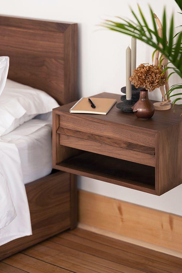 Marcel Open Shelf Floating Nightstand Eq3 Bed Furniture Design Floating Nightstand Minimalist Bedroom Design