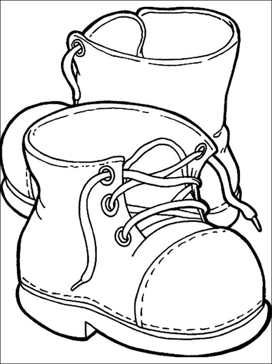 Kleurplaat met Laarzen Gratis