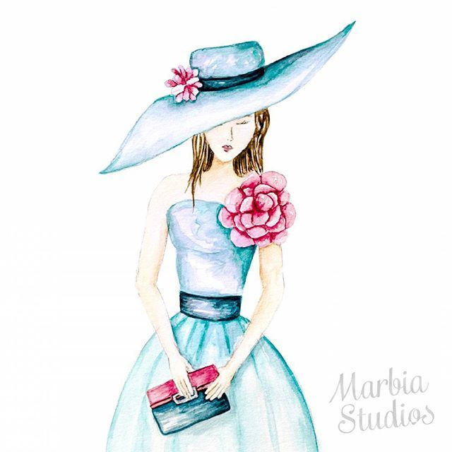 My first illustration for 2016! I've joined in the 52 week illustration challenge WEEK 1: FANCY  week one started last week but I was on holiday.  I love doing fashion illustration!