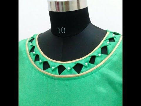 Latest boat neck with barfi and hole design cutting and stitching in Hindi