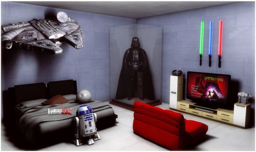 Star wars bedroom by luiggi26 geek pinterest for Geek bedroom ideas