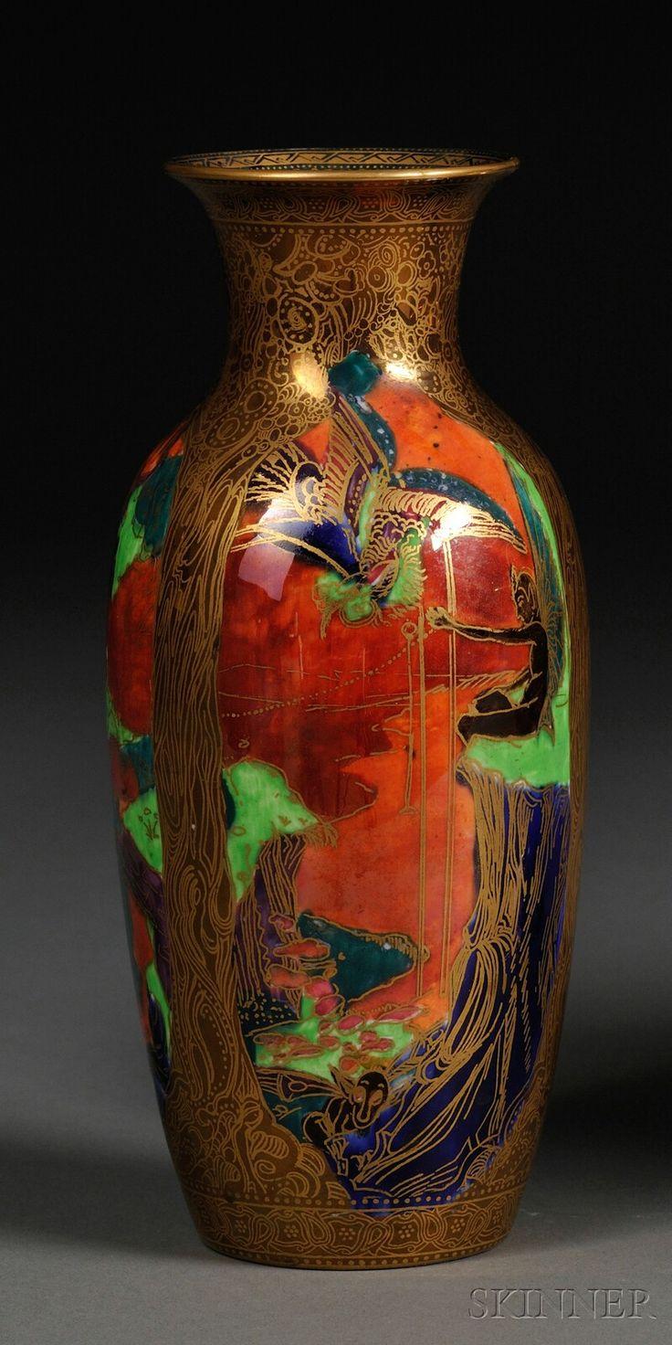 Wedgwood Flame Fairyland Vase, England, c. 1920
