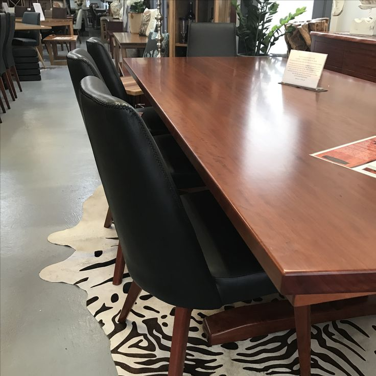 This beautiful large Murray River Redgum table,with Wildwood's classic 'Y' shaped pedestal base is on display now at our Stanmore store.
