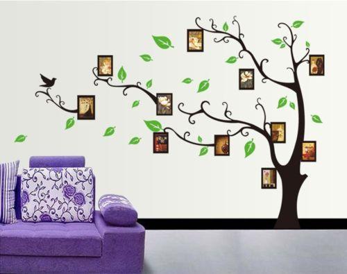 Luxury Gro e Foto Rahmen Ged chtnis Baum Wand Aufkleber Vinyl Art Home Decals WSN eBay